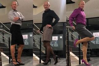 Gonne e tacchi non sono solo per donne: Mark combatte gli stereotipi indossando abiti femminili