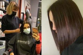 Elettra Lamborghini cambia look a due mesi dal matrimonio: si è tagliata i capelli di 10 cm