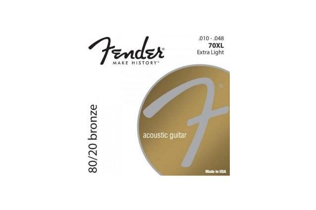 set corde per chitarra acustica Fender