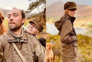 James Middleton e Alizée Thevenet fidanzati in coordinato: per la gita nei boschi indossano il parka