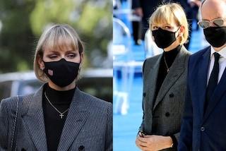 Charlene di Monaco cambia stile: addio abiti da principessa, ora segue il trend del completo mannish