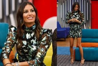 GF Vip 2020, Elisabetta Gregoraci mostra le gambe: la puntata 15 è in abito mini con le spalline