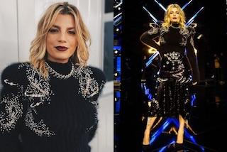 X-Factor 2020, quarta puntata dei Live: Emma Marrone brilla in nero con maglione e gonna gioiello