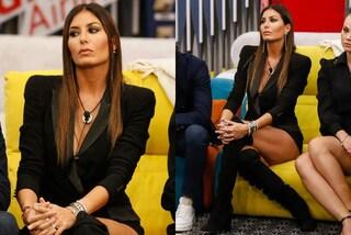 GF Vip 2020, la puntata 19 di Elisabetta Gregoraci è in nero con giacca e maxi stivali