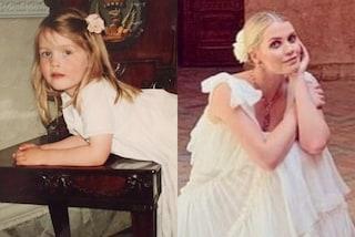 Kitty Spencer da piccola, la nipote di Lady Diana riproduce il look bianco col fiore tra i capelli