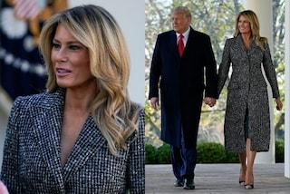 Melania Trump sempre più bionda: cambia look per uno degli ultimi impegni alla Casa Bianca
