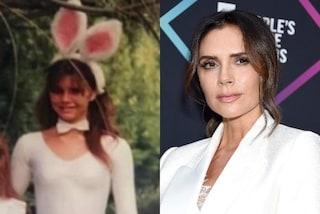 Victoria Beckham da piccola travestita da coniglio: nella foto del passato sorrideva in camera