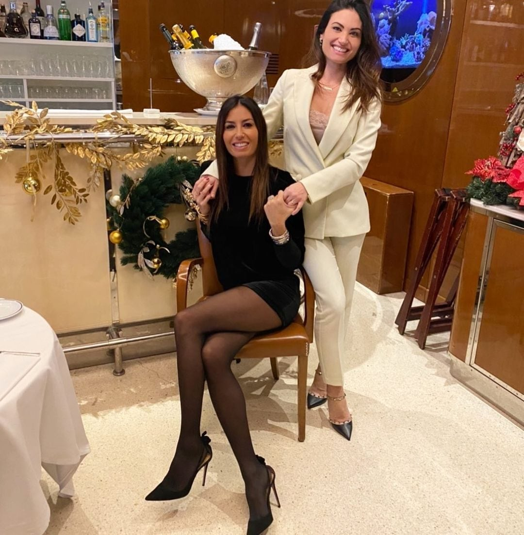 Con la sorella Marzia