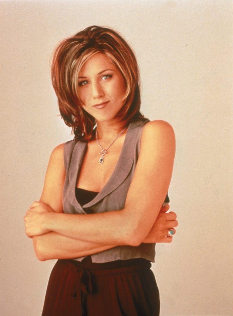 Jennifer Aniston nel 1995 con il Rachel's Cut