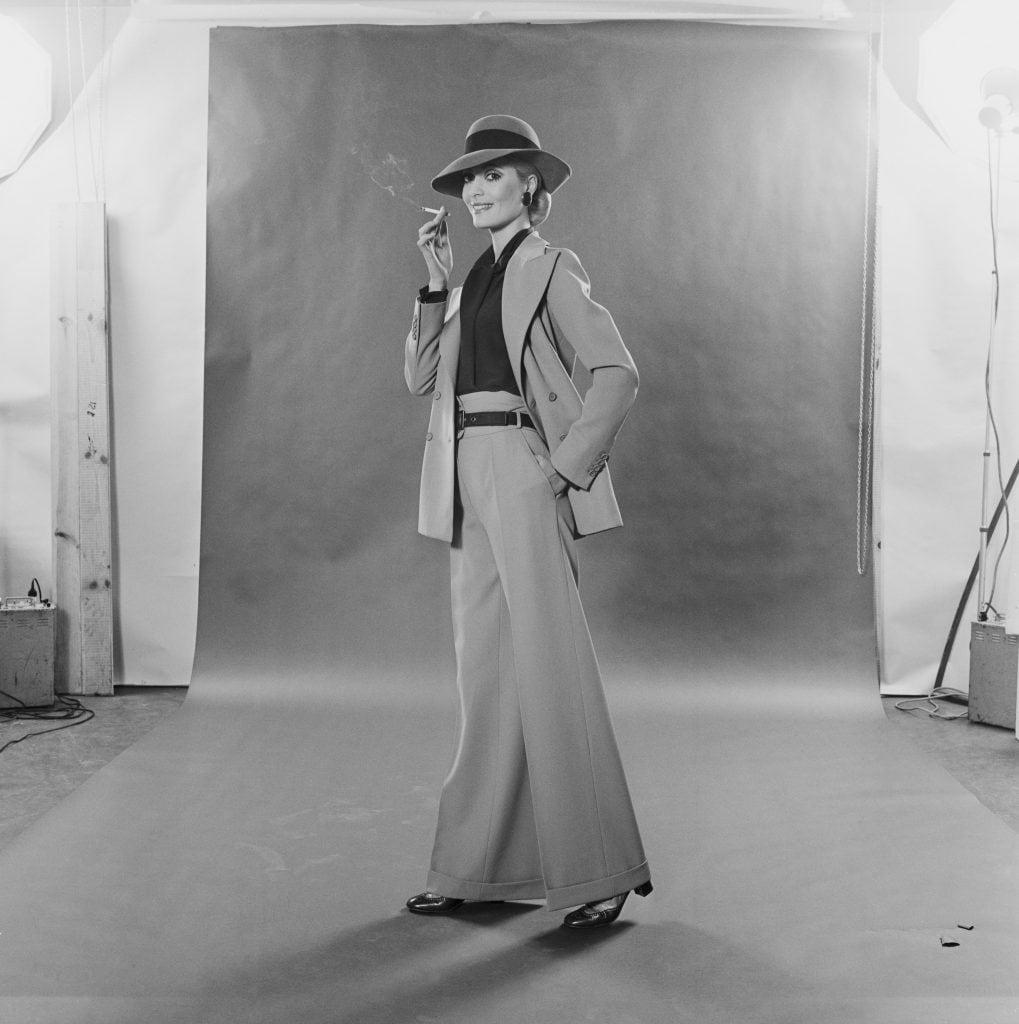 Un modello Yves Saint Laurent del 1970