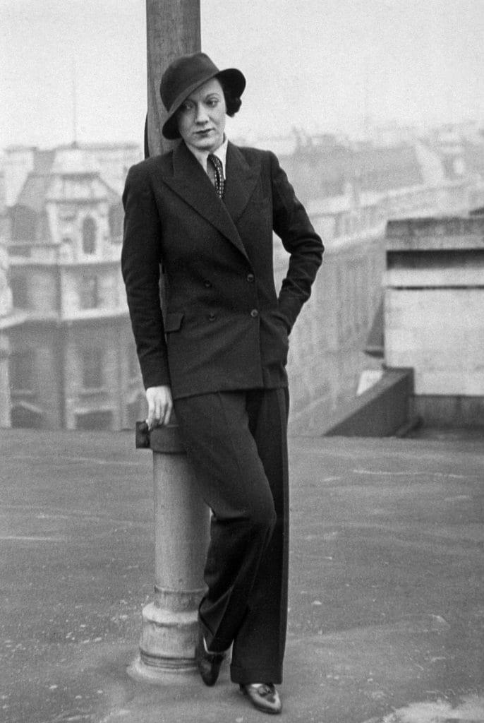 L'attrice Marlene Dietrich