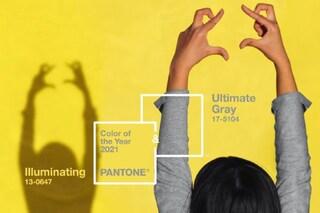 Pantone, i colori 2021 sono Ultimate Gray e Illuminating: perché sarà l'anno del giallo e del grigio