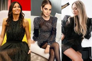 Abiti glitter per rivoluzionare i look total black: sono il must-have dell'inverno 2021