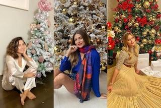 Natale 2020, gli alberi delle star: quello della Balivo è mini, Valentina Ferragni sceglie il rosso