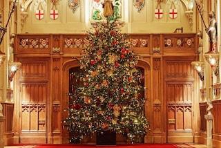 La regina non rinuncia all'albero di Natale: al castello di Windsor un abete alto sei metri