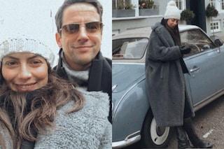 Alessandra Mastronardi segue il trend del teddy bear ma in grigio: è il must-have dell'inverno 2021