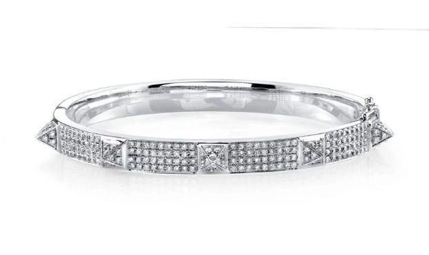 bracciale in oro bianco e diamanti Anita Ko