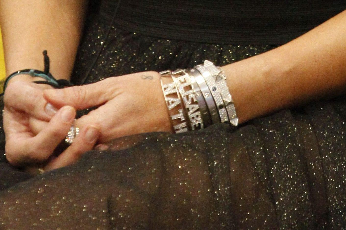 i bracciali che indossa Elisabetta Gregoraci