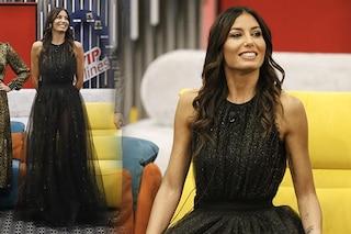 GF Vip 2020: Elisabetta Gregoraci esce dalla casa con abito da principessa e bracciali di diamanti