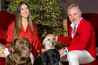 Gianluca Vacchi e Sharon Fonseca, il primo Natale da genitori è in coordinato con i look a tema