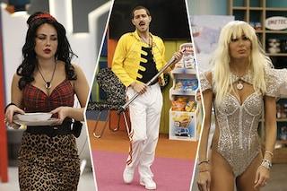 GF Vip 2020, la trasformazione dei concorrenti: la Gregoraci diventa Gaga, Zorzi come Freddy Mercury