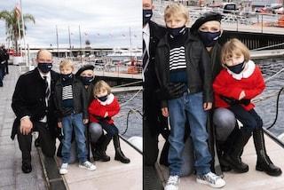 Gabriella con gli anfibi, Jacques veste griffato: a 6 anni i principi di Monaco sono già trendy
