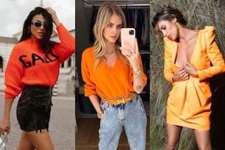 L'inverno 2020-21 si tinge d'arancione: è il colore must-have più amato dalle star