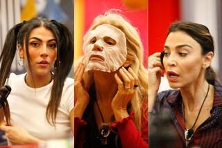 Natale al GF Vip, i preparativi: la Ruta fa la maschera viso, Giulia Salemi prova le codine