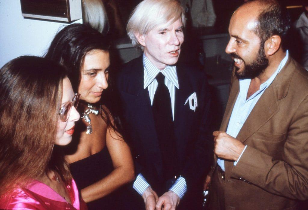 Elio Fiorucci con Andy Warhol nel 1978