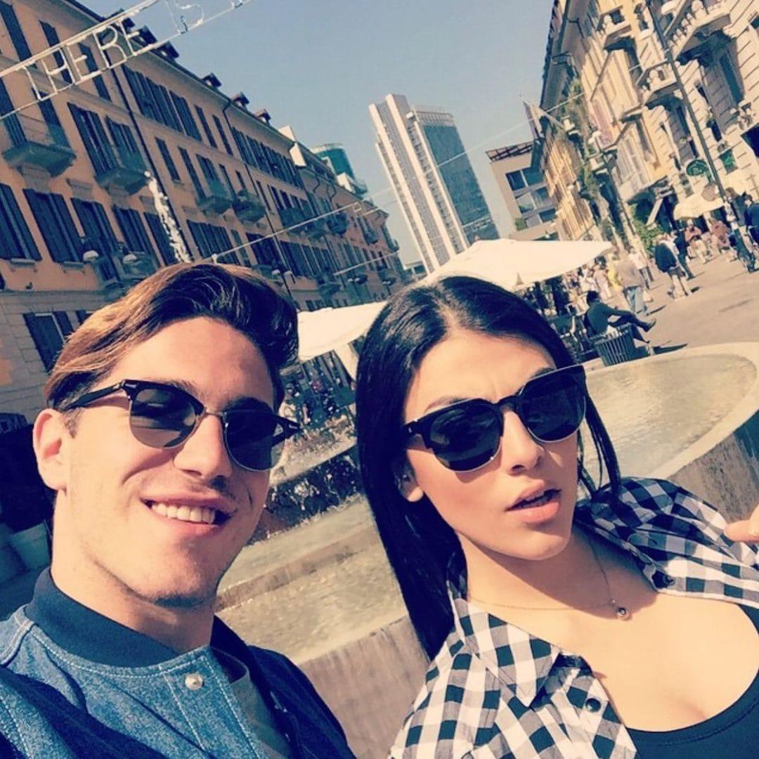 Un selfie di Tommaso Zorzi e Giulia Salemi nel 2015