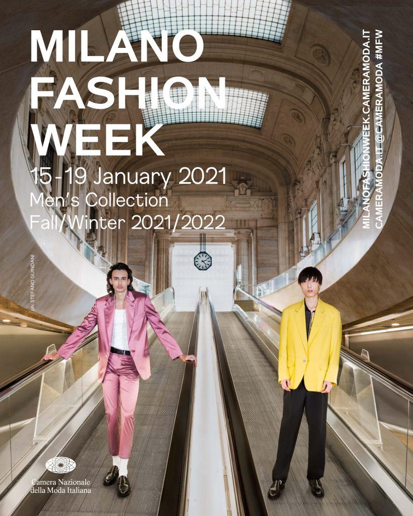 La locandina ufficiale della Milano Fashion Week Uomo 2021