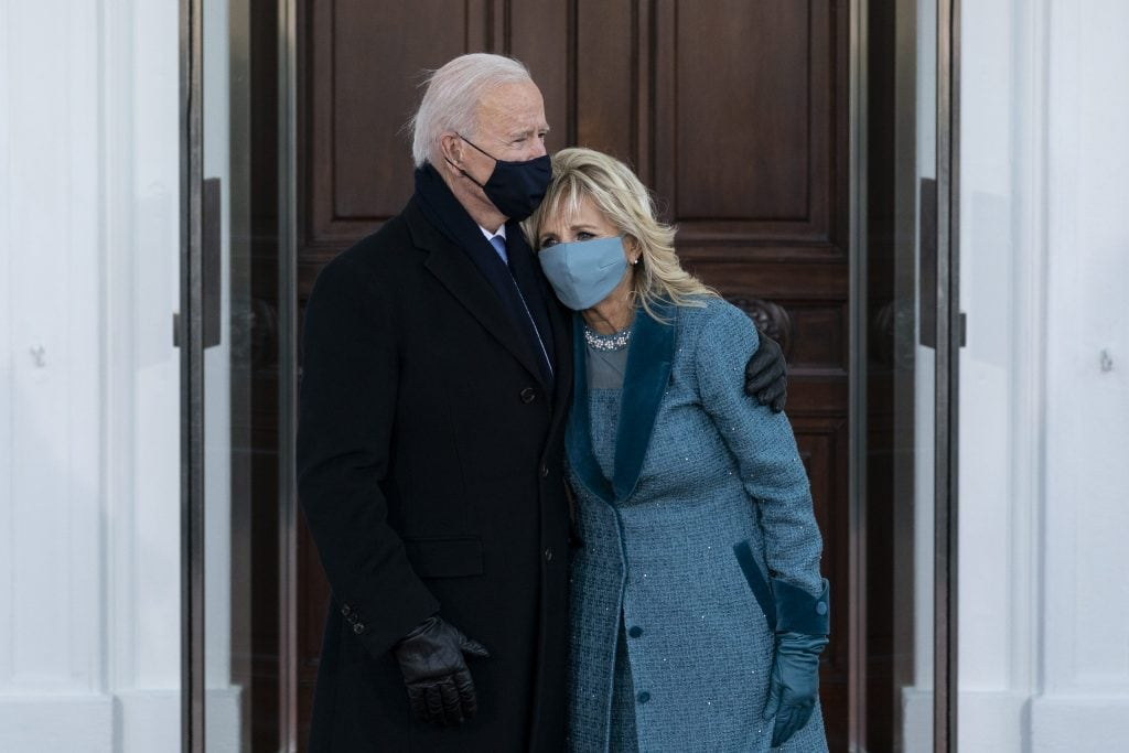 Jill e Joe Biden all'Inauguration Day