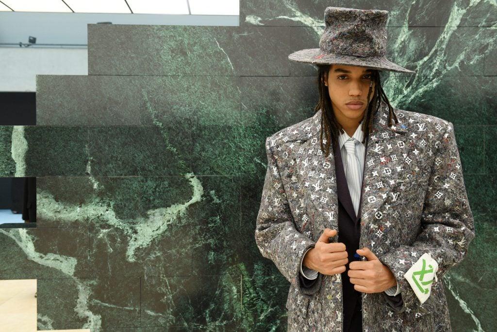Cappotto con logo Louis Vuitton