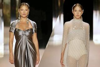 Alta Moda, il debutto di Kim Jones da Fendi: in passerella Demi Moore e Kate Moss con la figlia Lila