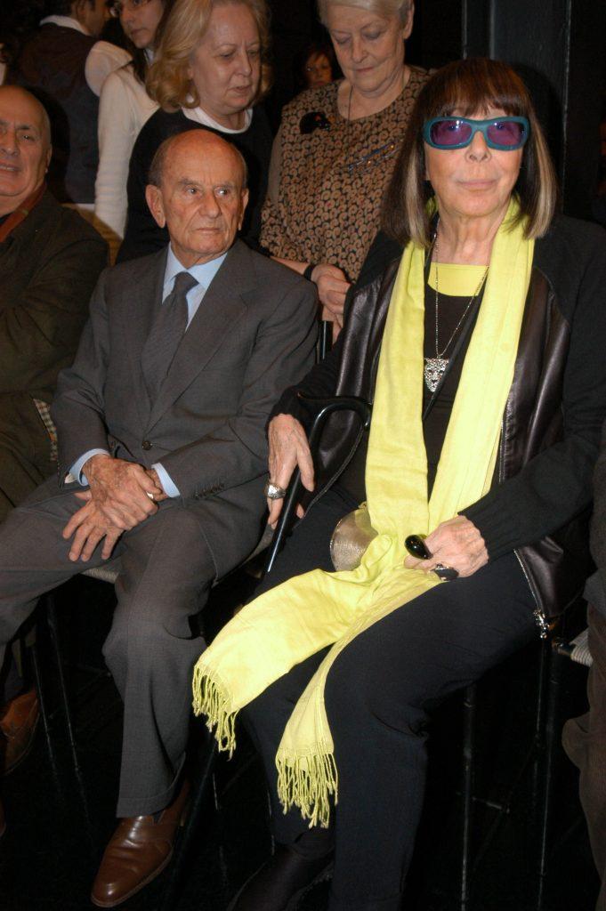 Mariuccia Mandelli nel 2008 con il marito Aldo Pinto