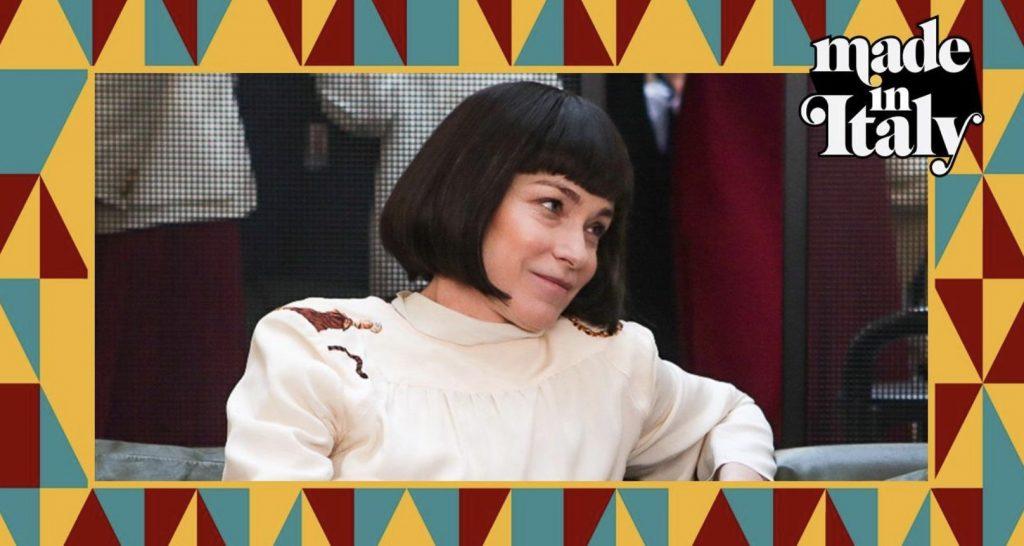 L'attrice Stefania Rocca nel ruolo di Krizia