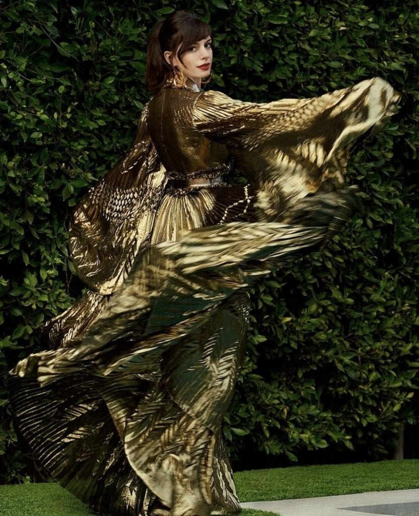 Anne Hathaway in Azzaro