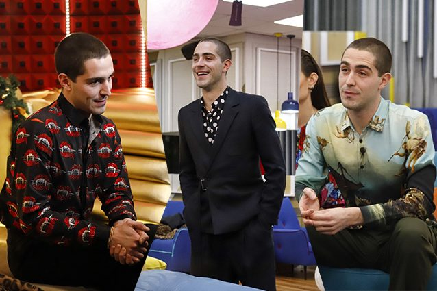 Da sinistra a destra: camicia con stampa di bocche Philippe Plein, camicie a pois e con una stampa dipinto Benevierre