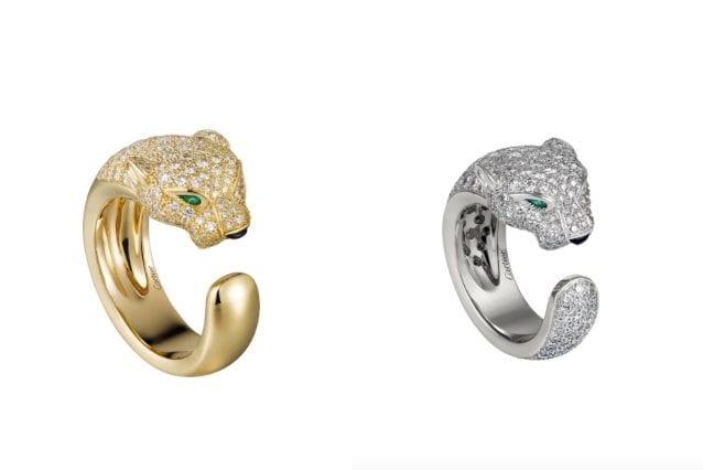Gli anelli della collezione Panthère di Cartier