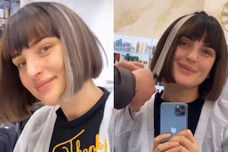 Arisa con i capelli bianchi: il nuovo cambio look con le ciocche colorate è trendy