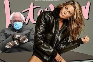Dalla Aniston a Demi Moore, i guanti di Bernie Sanders conquistano le star: i meme diventano fashion