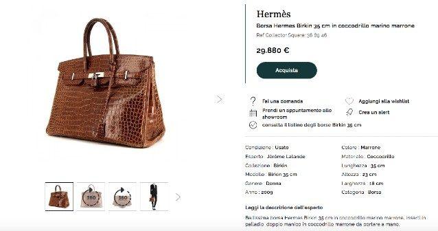 La borsa in vendita sul sito Collector Square
