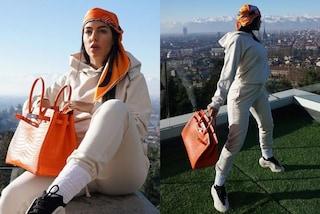 Georgina Rodriguez, la nuova Birkin è uguale a quella di Chiara Ferragni e vale quasi 40mila euro