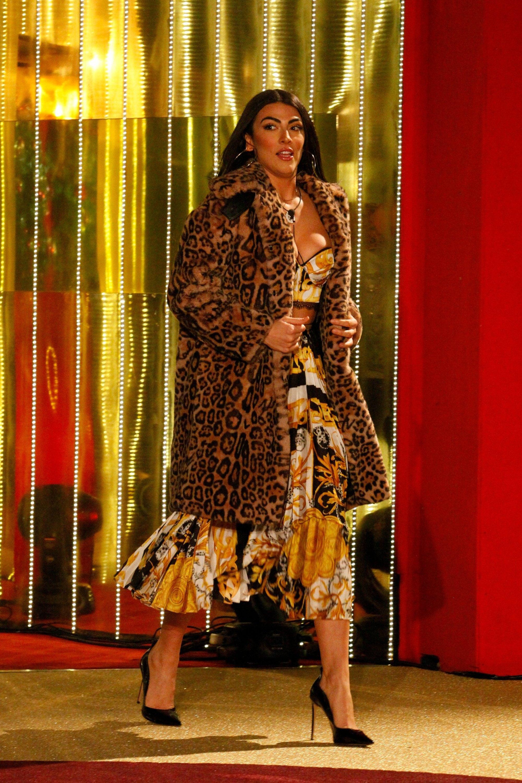Giulia Salemi in Versace, scarpe Le Silla