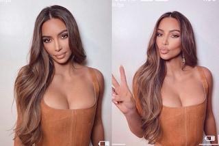 Kim Kardashian abbina il bustier alle mèches: il sexy look per ringraziare i 200 milioni di seguaci