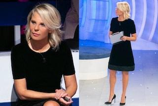 Maria De Filippi a C'è Posta Per Te: la terza puntata è in velluto nero e con i tacchi a spillo