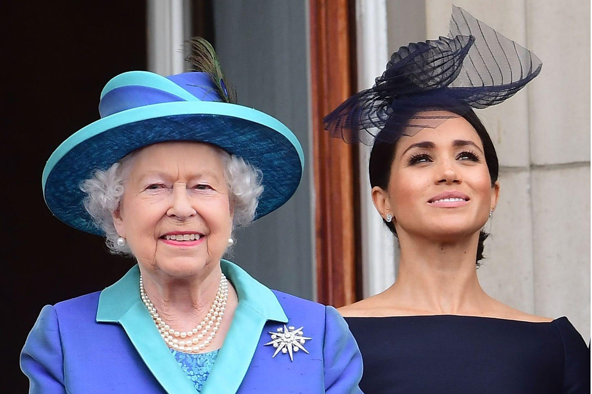 Meghan con la regina Elisabetta II