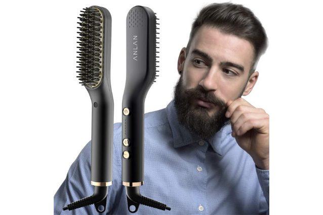 spazzola lisciante barba e capelli