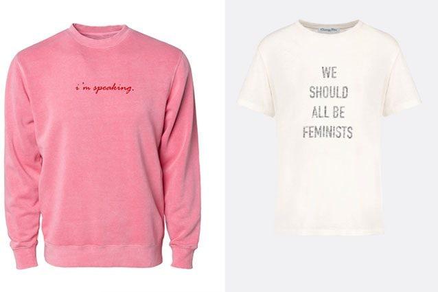 da sinistra felpa Phenomenal e T–shirt Dior