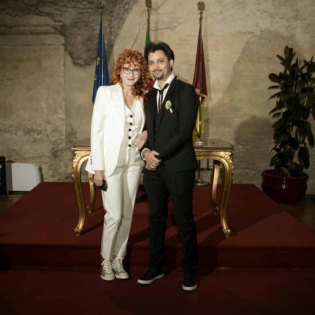 Il look bridal di Fiorella Mannoia